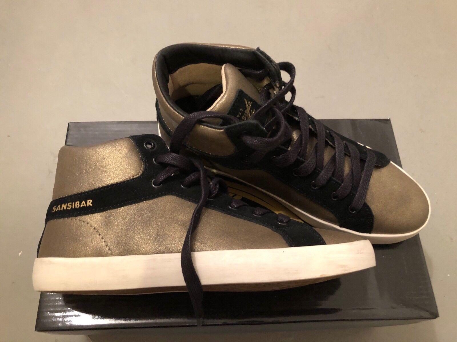 Sansibar Sneaker Gold/schwarz 38 Gr. 38 Gold/schwarz neu 9a1e25