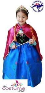 GIRLS-FROZEN-ANNA-Costume-Size-3-8-Birthday-Party-Princess-Dress