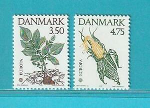 Daenemark-CEPT-aus-1992-MiNr-1025-1026-Pflanzen