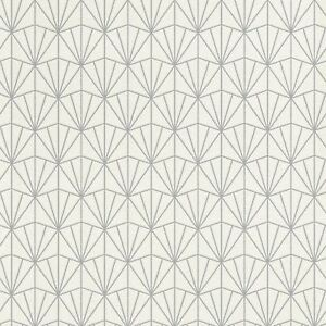 Modern Kunst Deko Dreiecke Tapete Weiß/Silber - RASCH 434064