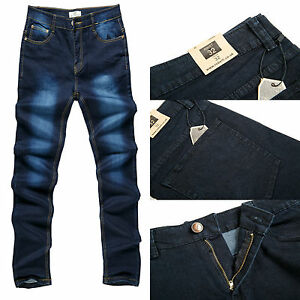 w30 Men's Robelli Designer Blue Stonewash Denim Skinny Feine Verarbeitung Slim Fit Jeans