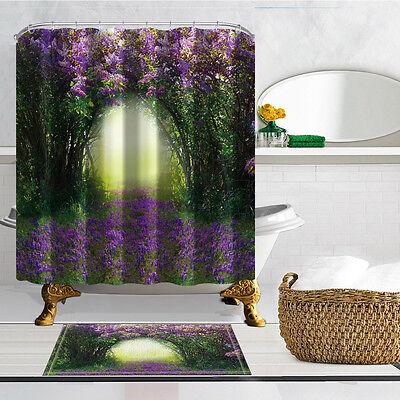 Full Bloom Shower Curtain Bath Rug Mat