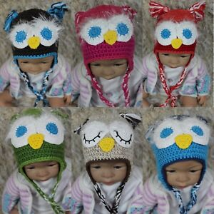 4e5766dc6 Details about Knit Crochet Newborn Infant Baby Child Kids Eagle Owl Hat Cap  Baby Shower Gift