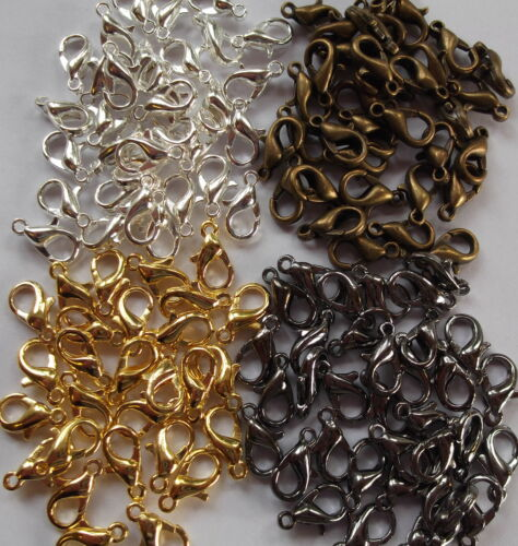 crafts etc. 30 x  Lobster Clasp-Jewellery making Silver,Antique,Gunmetal,Gold