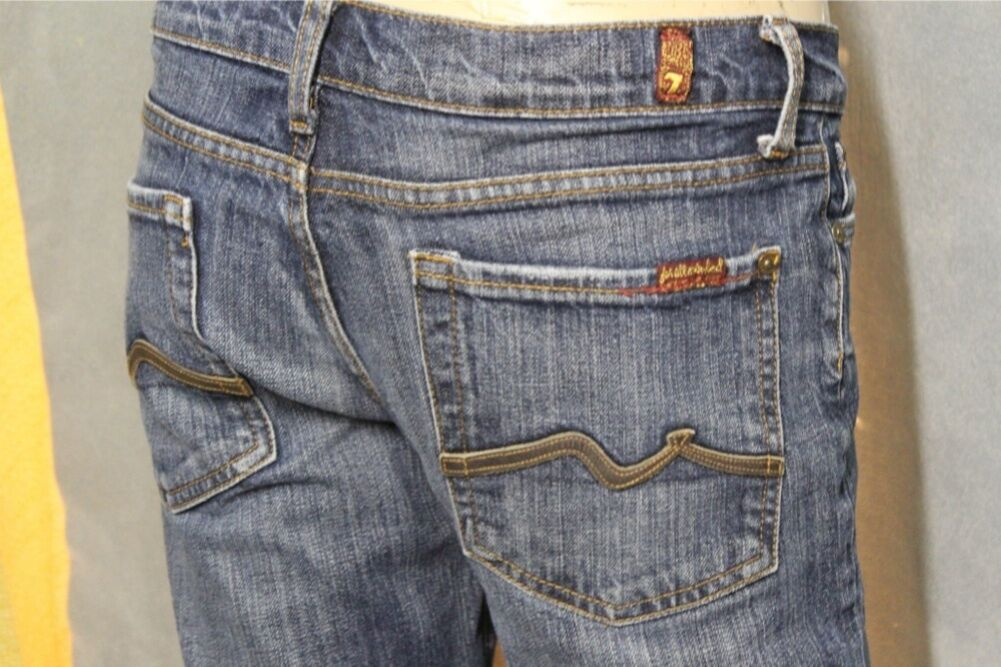 7 For All Mankind Bootcut Jeans (Leather Accents) size 29