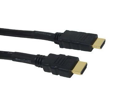 100Ft 26AWG HDMI Male//Male CL2 High Speed Built-In Equalizer Cable Gold White