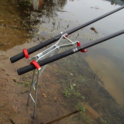 Fishing Rod Chair Holder Pole Stand Adjustable Tackle Clamp Tool Bracket Support