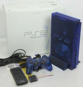 PS2-OCEAN-BLUE-Console-System-SCPH-37000-J1713796-Tested-Playstation-2-034-NTSC-J-034