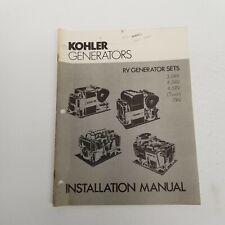 Kohler Generators Rv Sets Installation Manual 35rv 45rv 45rvtwin 7rv