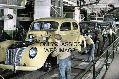 1951 GENERAL MOTORS OLDSMOBILE CAR ASSEMBLY LINE 8X10 PHOTO AUTOMOBILIA HOT ROD