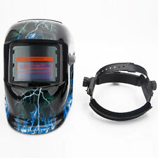 Safety Auto-Darkening Pro Solar Mask Welding Helmet Protective Lightning Skull
