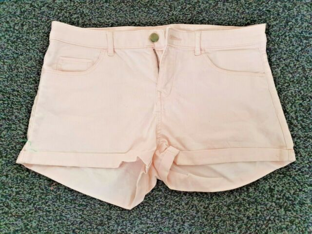 Women's H&M Pink Denim Shorts Summer Casual Beach Size 10 Small EUR36 SALE
