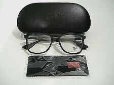 Ray Ban RB7074 RB 7074 5364 Black Rubber Eyeglasses Rx-Able Frame 52MM