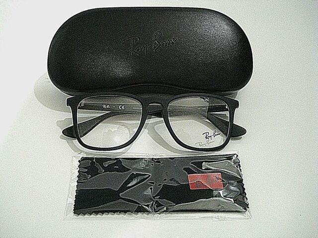 81c7947d795 Ray Ban RB7074 RB 7074 5364 Black Rubber Eyeglasses Rx-Able Frame 50M