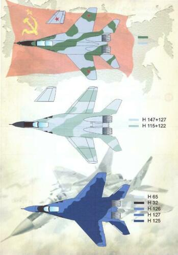 Print Scale Decals 1//72 MIKOYAN MiG-29 FULCRUM Russian Jet Fighter