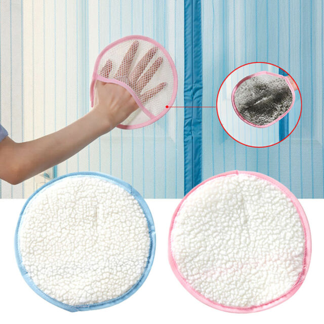 GI- TH_ Anti Mosquito Curtain Screen Window Dust Cleaning Wipe Glove Pad Remover