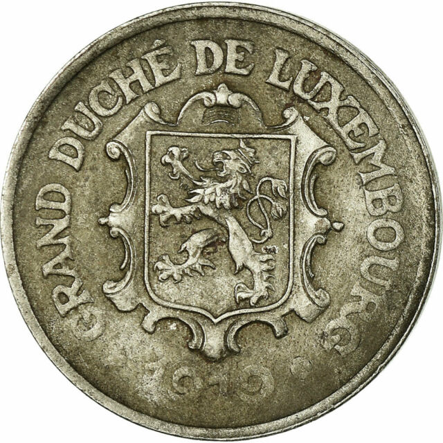[#677646] Coin, Luxembourg, Charlotte, 25 Centimes, 1919, VF(20-25), Iron, KM:32