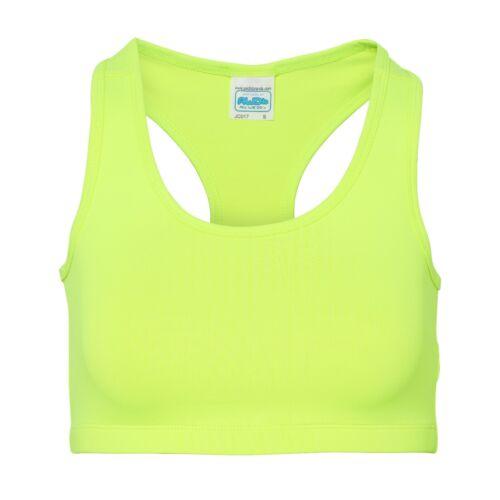 Gym Workout Running Racer Back JC017 AWDis Girlie Cool Sports Crop Top