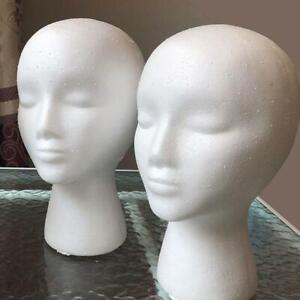 Female-Head-Model-Wig-Hair-Glasses-Hat-Display-Styrofoam-Foam-Gift-Mannequ-K6W0