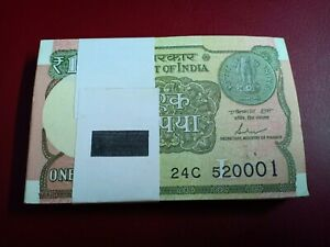 INDIA 1 RUPEE P 77 R UNC W//H