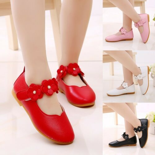 Fashion Baby Girls Solid Flowers Hook /& Loop Single Soft Dance Princess Shoes
