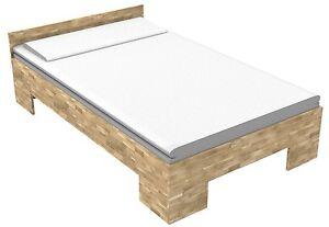 Bett Eiche Einzelbett Massivholzbett 120x200 Seniorenbett Fuß Ii
