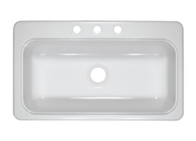 New Mobile Home 33 X 19 X 8 Single Bowl White Kitchen