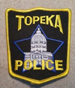 TOPEKA POLICE DEPT PATCH KANSAS