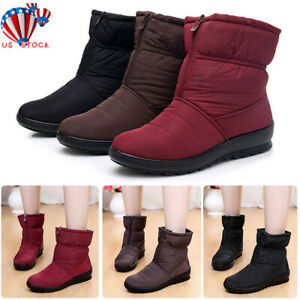 Women-Winter-Snow-Zipper-Waterproof-Ankle-Boots-Ladies-Warm-Fur-Lined-Shoes-Size