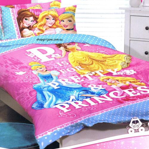 Disney Princess Quilt//Doona//Duvet Cover Set or Sheet Set Single//Double//King Size