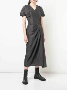 1480-Rick-Owens-Made-in-Italy-Limo-Ruched-Pleated-Asymmetric-Wrap-Dress-48-12