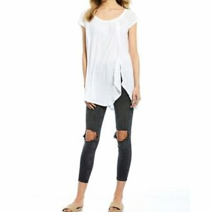 NWT Free People Sundance Tee in Ivory Retail $58