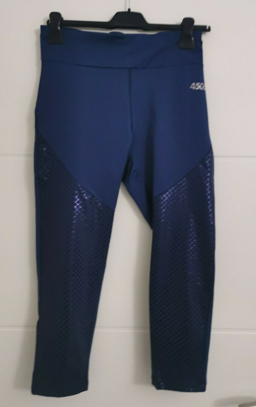 ASOS 4505 Damen Leggings mit hoher Taille und tonalem Foliendetail Gr. 42 Blau