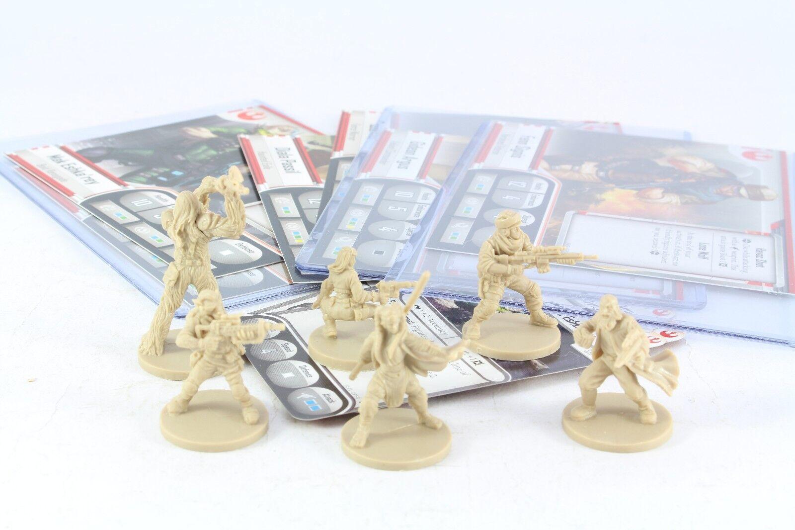 Star Wars Miniatures Hero x 6 Imperial Assault Group Diala Passil Gaarkhan