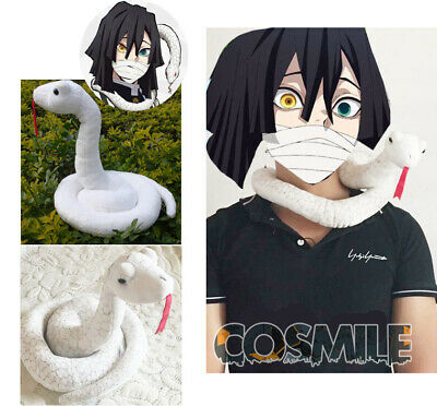 Demon Slayer Kimetsu No Yaiba Iguro Obanai Snake Plush Doll Toy Cosplay Prop