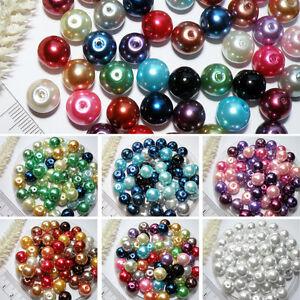Glaswachs-Perlen-25stk-BUNT-MIX-10mm-FARBWAHL-Perlen-IMITAT-Glasperlen