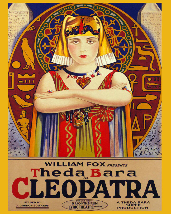 Decor POSTER.Home wall room Art.Interior Design.Cleopatra silent movie.6998