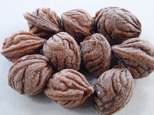 10x madera perla Buda Bodhi nueces de nogal marrón oval 16-19 mm 2056