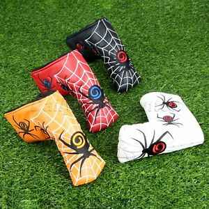Designed-Spider-amp-Silver-Web-Golf-Putter-Cover-Headcover-PU-Leather-Golf-Accessory