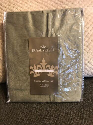 Royal Velvet Supreme Shaped Valance Pair 86 W x 35 L Silver Sage