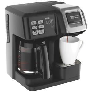 Hamilton Beach Flexbrew 2 Way Single And 12 Cup Coffee Maker Black