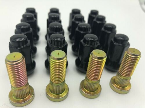 Arctic Cat Wheel Studs By R.A.D /& Black Tusk Lug Nuts Prowler Wildcat TRV More
