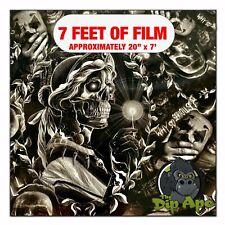 Hydrographic Film Hellbound Joker Skulls Hydro Dipping 7 X 20 Hydro Dip