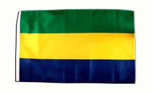 """Gabon Boat Flag 18/"""" X 12/"""" ideal for Treehouses Sleeved 45cm x 30cm"""