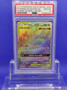 Naganadel-amp-Guzzlord-GX-Secret-Hyper-PSA-10-2019-Cosmic-Eclipse-260-Pokemon