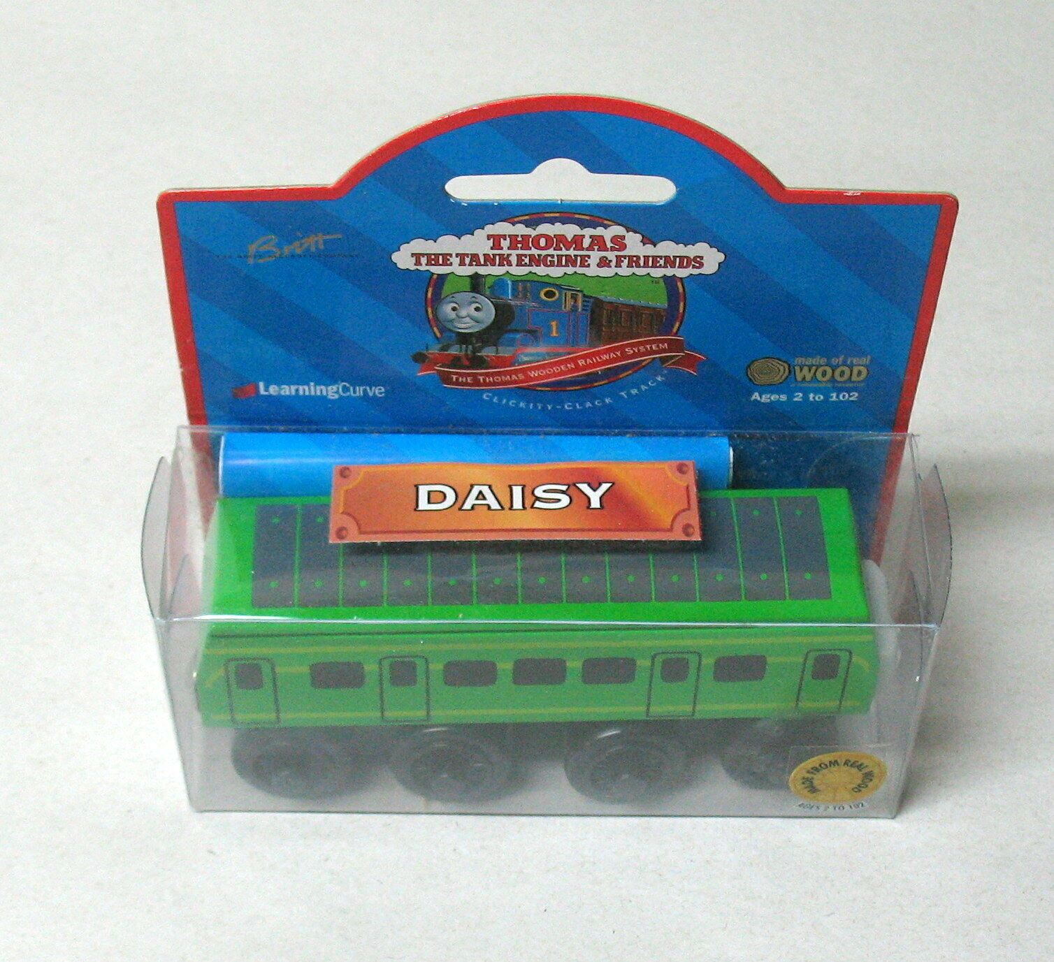 DAISY, Wooden, Thomas the Tank Engine & Friends, braun LABEL, 1999, NIP