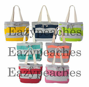 Details About Mv Sport Pro Weave Striped Beach Comber Bag Lined Tote Swim Picnic 3394