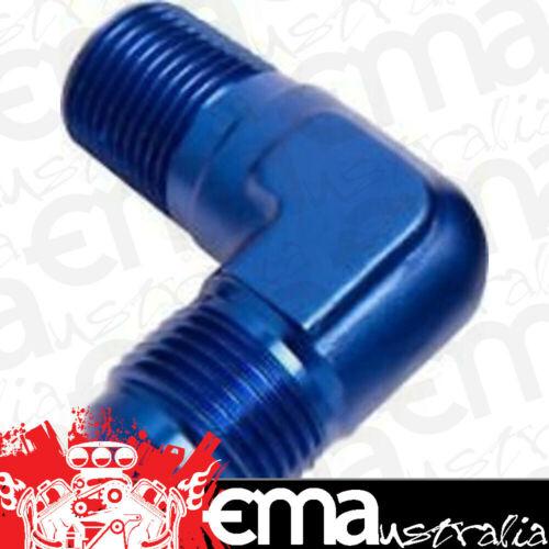 "6AN Blue Male NPT to AN 90 Deg Aeroflow AF822-06 Male 90 Deg 1//4/"" NPT to"