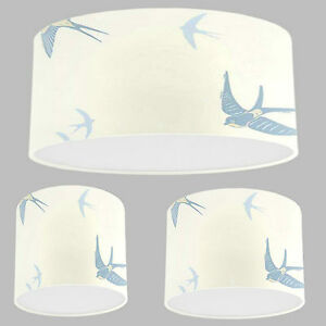 Handmade lampshade with laura ashley blue birds seaspray wallpaper image is loading handmade lampshade with laura ashley blue birds seaspray aloadofball Images