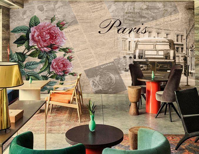 3D Peonia enormi  Parete Murale  Carta da parati immagine sfondo muro stampa